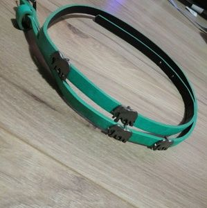 Teal/mint Belt with elephant accents